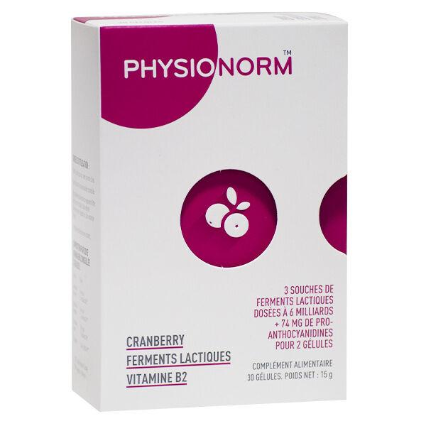 Immubio Physionorm Cranberry Ferments Lactiques Vitamine B2 30 gélules