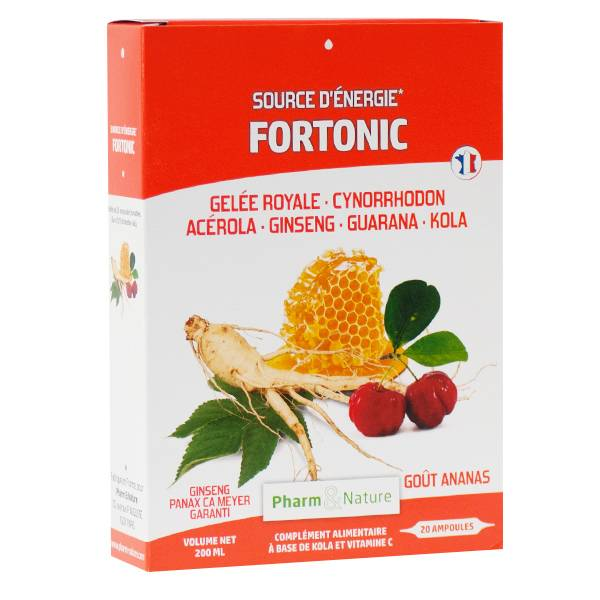 Pharm & Nature Fortonic Goût Ananas 20 ampoules