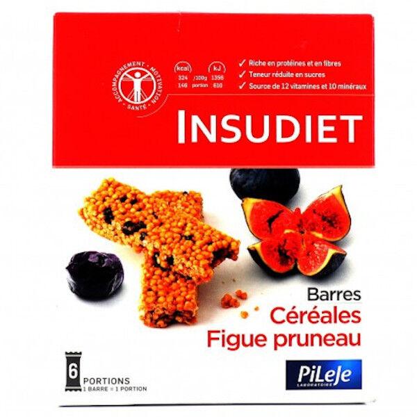 Pileje Insudiet Barre Céréales Figue Pruneau 6 Unités