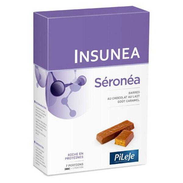 Pileje Insunea Séronéa Barres Chocolat au Lait Goût Caramel 6 unités