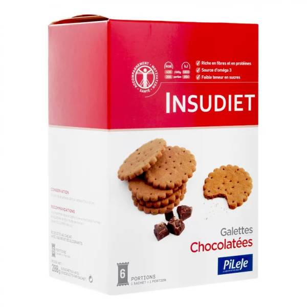 Pileje Insudiet Galettes Chocolatées 6 sachets