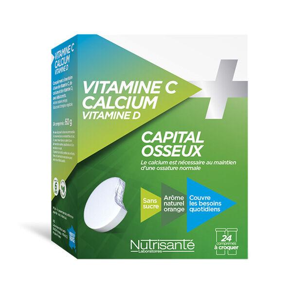 Nutrisanté Vitamine C + Calcium + Vitamine D 24 comprimés