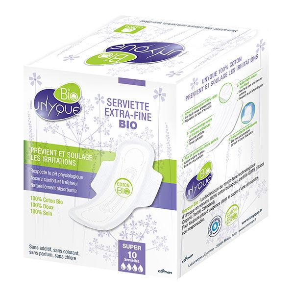 Unyque Serviette Extra-Fine Bio Super 10 serviettes