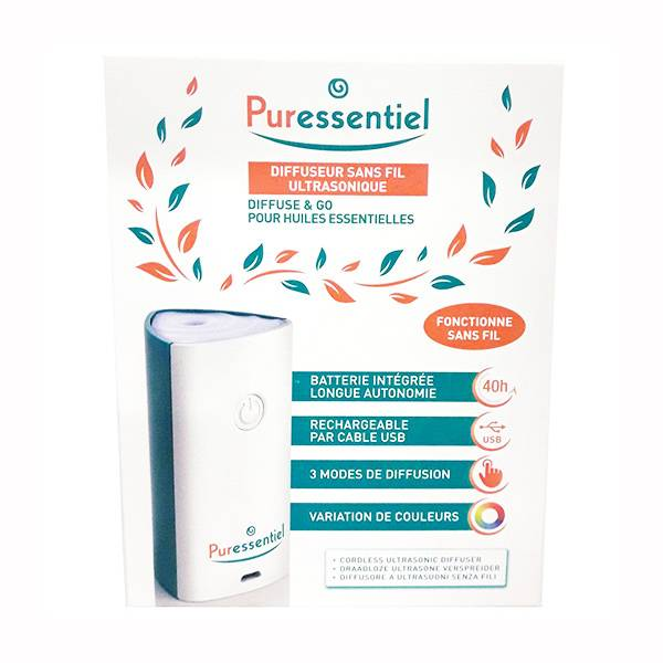 Puressentiel Diffuseur Sans Fil Ultrasonique Diffuse & Go
