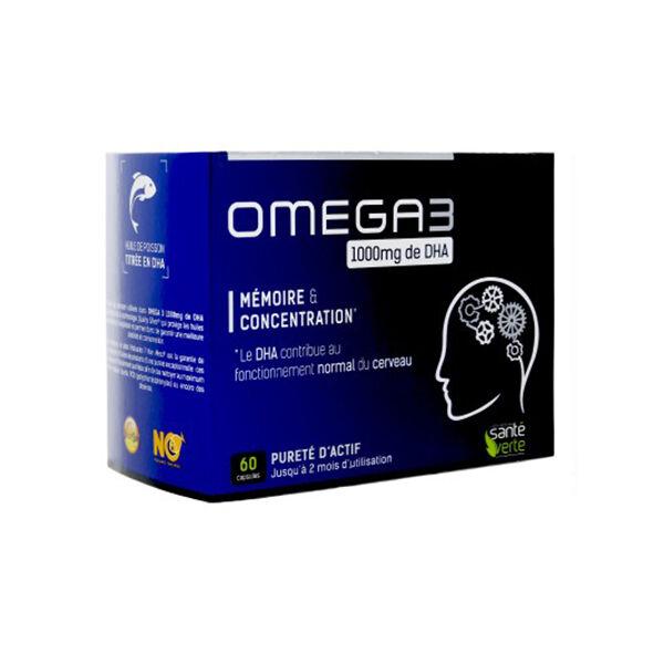Santé Verte Oméga3 1000mg de DHA 60 capsules