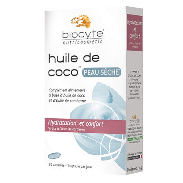 Biocyte Huile de Coco Peaux Sèches 30 capsules