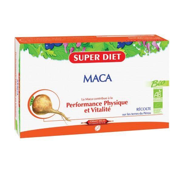 SuperDiet Super Diet Maca Bio 20 ampoules de 15ml