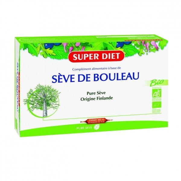 SuperDiet Super Diet Sève de Bouleau Bio 20 ampoules de 15ml
