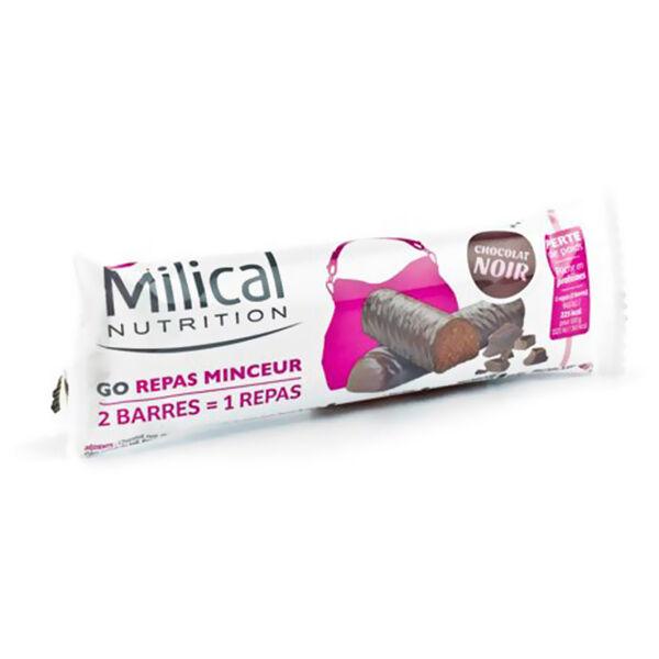 Milical Go Repas 2 Barres Minceur Fondantes Chocolat Noir