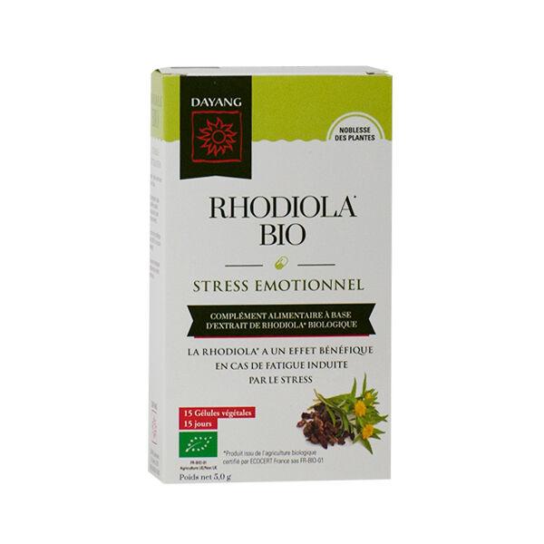 Dayang Rhodiola Bio Stress Emotionnel 15 gélules végétales