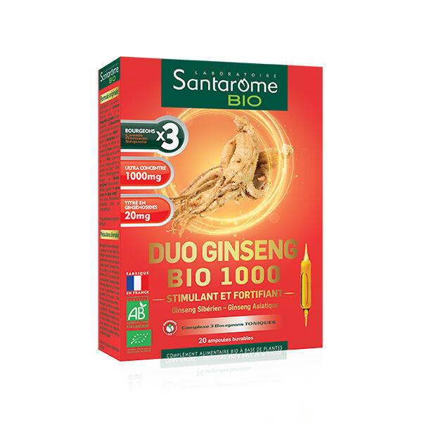 Santarome Bio Duo Ginseng Bio 1000 20 ampoules
