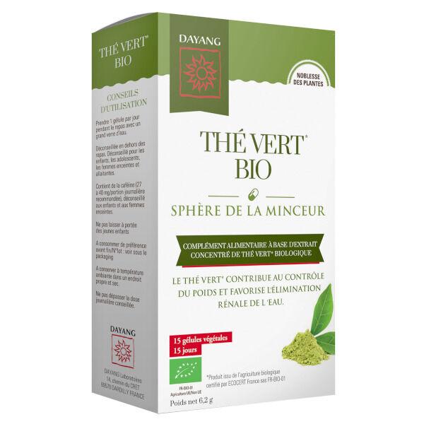 Dayang Thé Vert Bio Sphère de la Minceur 15 gélules