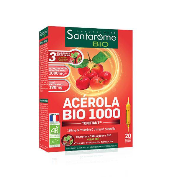Santarome Bio Acérola Bio 1000 20 ampoules