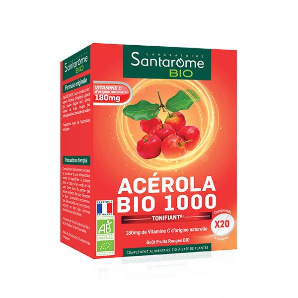 Santarome Bio Acérola Bio 1000 20 comprimés à croquer