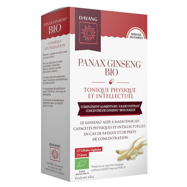 Dayang Panax Ginseng Bio Tonique Physique et Intellectuel 15 gélules