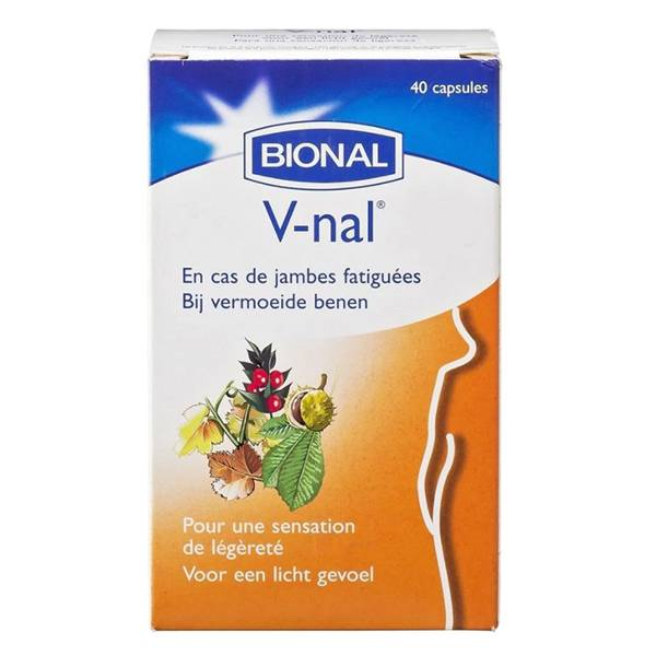 Bional V-nal Jambes Fatiguées + Vitamine C 40 capsules