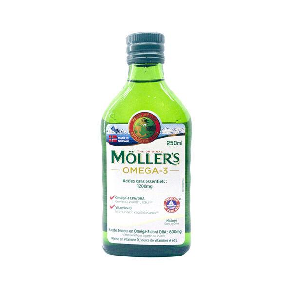Uberti Mollers Huile de Foie de Morue sans Arôme 250ml