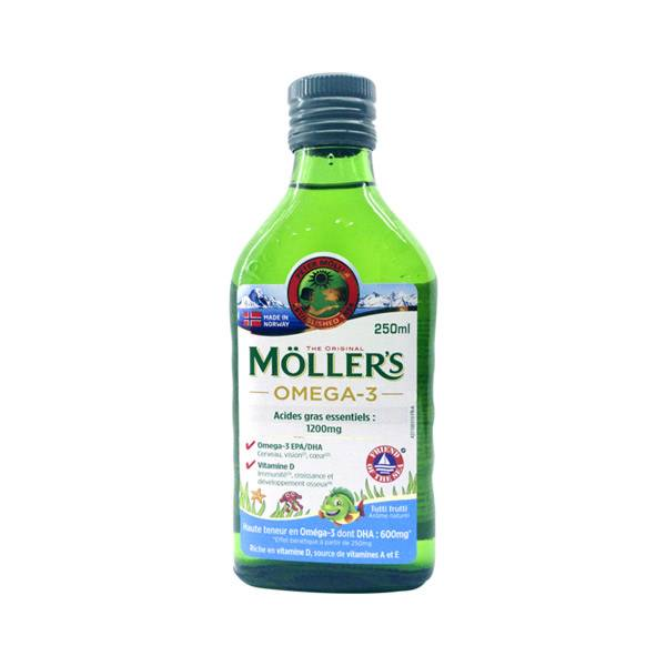 Mollers Huile de Foie de Morue Arôme Tutti Frutti 250ml