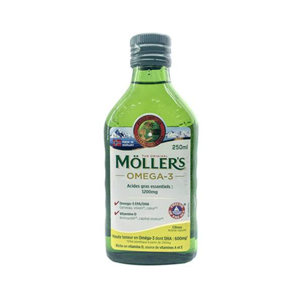 Mollers Huile de Foie de Morue Arôme Citron 250ml