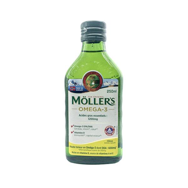Uberti Mollers Huile de Foie de Morue Arôme Citron 250ml