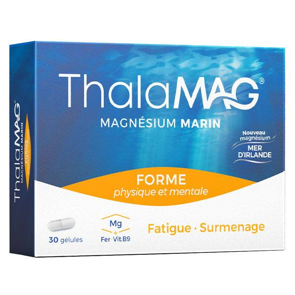 Thalamag Magnésium Marin Forme Physique & Mentale 30 gélules