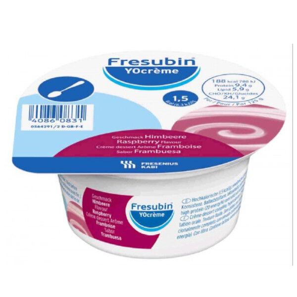 Fresenius Fresubin Yocreme Framboise Dessert Lacté Hypercalorique Hyperprotéiné Aliment 4 x 200g