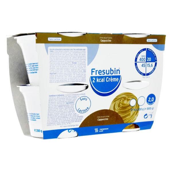 Fresenius Fresubin Diabète Hypercalorique Hyperprotéiné Cappuccino Crème Dessert 4 x 200g