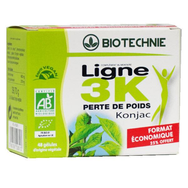 Biotechnie Ligne 3K Konjac Bio Lot de 2 x 24 gélules