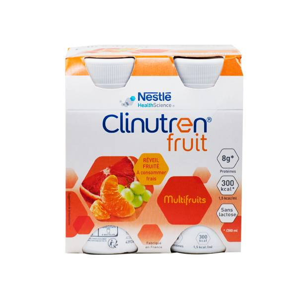 Clinutren Fruit Multifruits sans Lactose 4 x 200ml