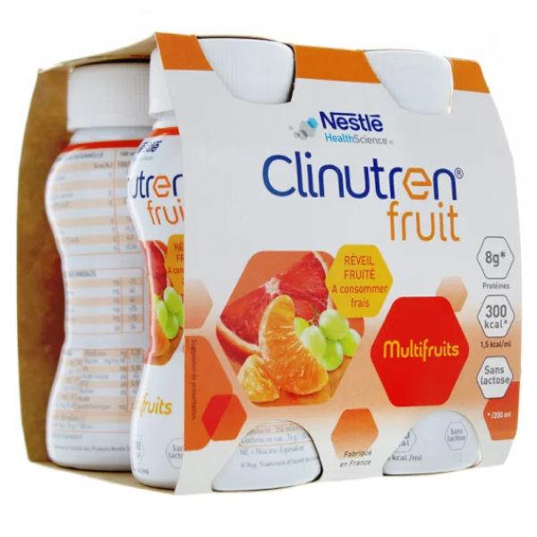 Clinutren Fruit Multifruits sans Lactose Lot de 4 x 200ml