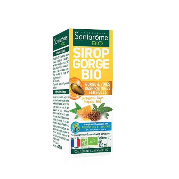Santarome Bio Sirop Gorge 125ml