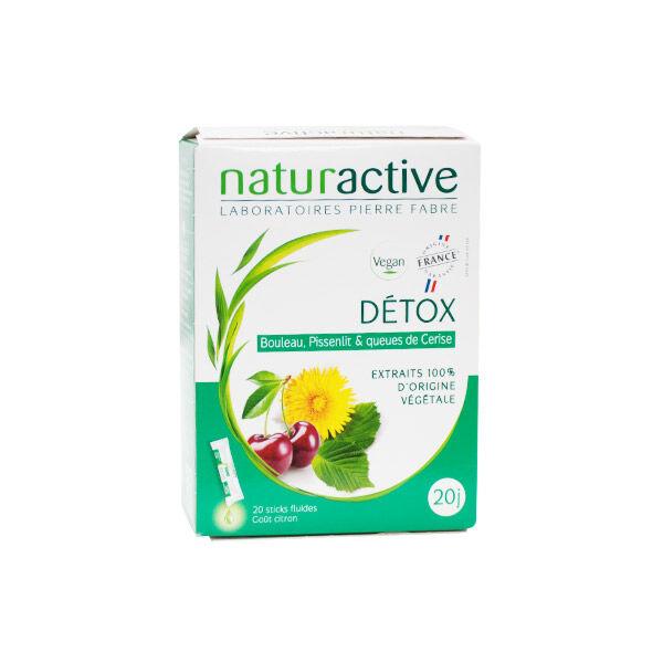 Naturactive Détox Goût Citron 20 sticks fluides