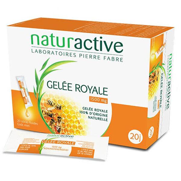 Naturactive Gelée Royale 1500mg Goût Miel 20 sticks fluides