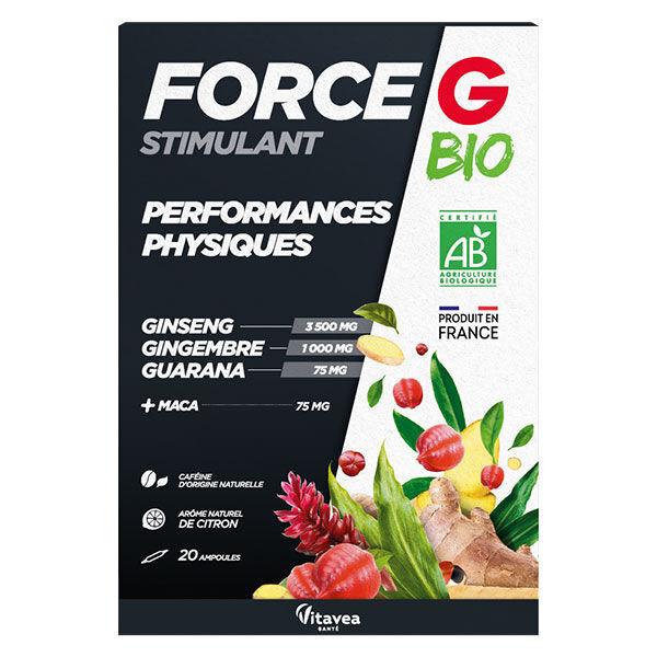 Nutrisanté Force G Bio Stimulant Performance Physique 20 ampoules