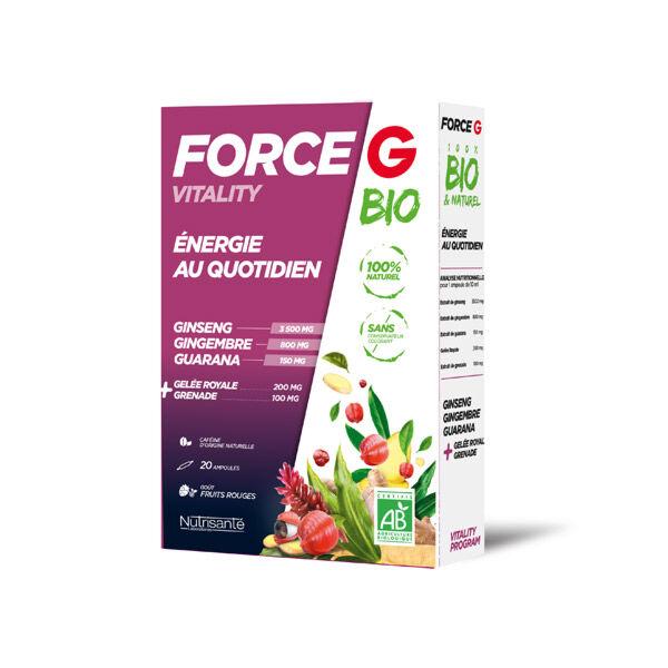 Nutrisanté Force G Bio Vitality Energie au Quotidien 20 ampoules