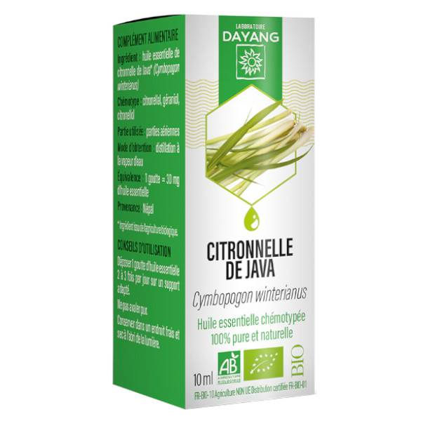 Dayang Huile Essentielle Citronelle de Java Bio 10ml