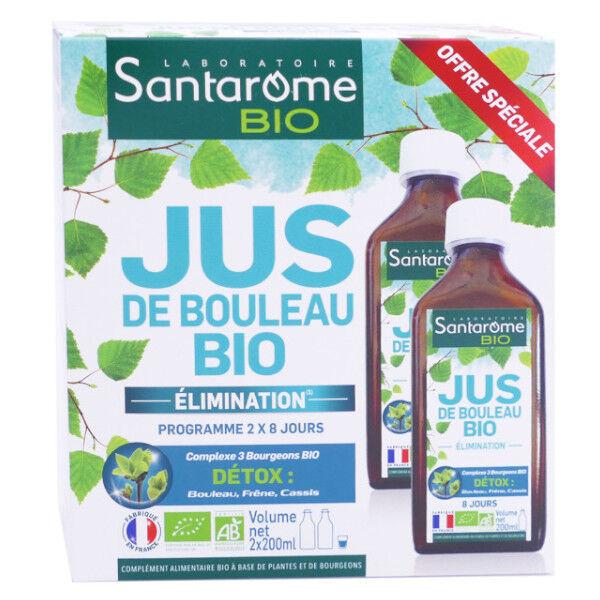 Santarome Bio Jus de Bouleau Lot de 2 x 200ml