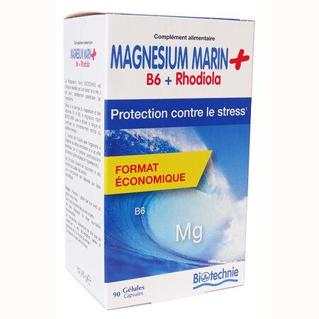Biotechnie Magnésium Marin Stress Rhodiola 90 gélules
