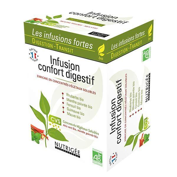 Nutrigée Infusion confort digestif bio 30 sachets fraîcheur