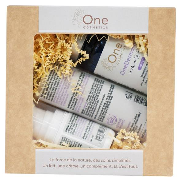 Laboratoire Mint-e Mint-e One Cosmetics Coffret OneCream 50ml + OneCleanse 150ml + OneDermalift 60 gélules