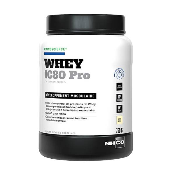 Nhco Whey IC80 Pro Développement Musculaire Vanille 750g