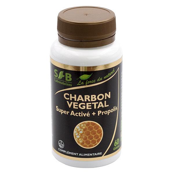 Laboratoires SFB Charbon Végétal Super Activé + Propolis Verte 60 gélules