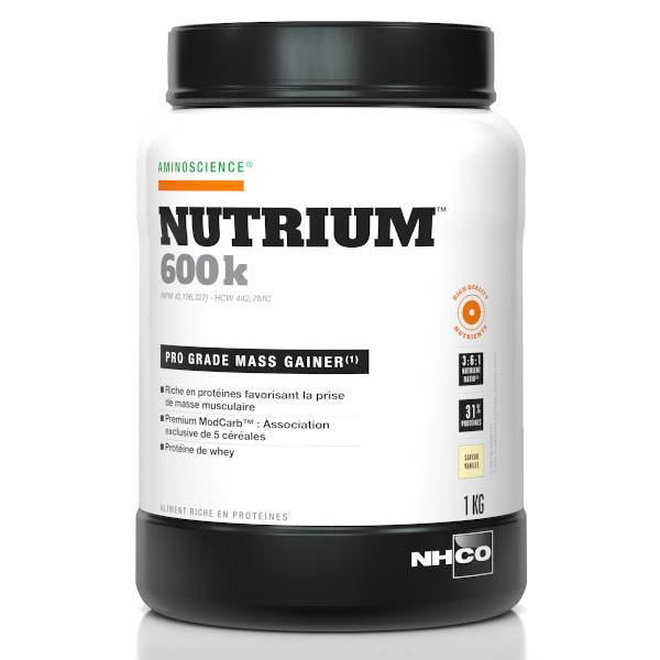 Nhco Nutrium 600k Mass Gainer Vanille 1kg