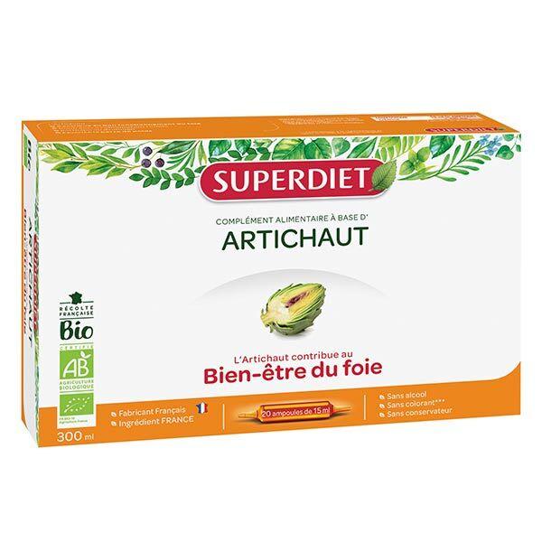 Superdiet Artichaut Bio 20 ampoules