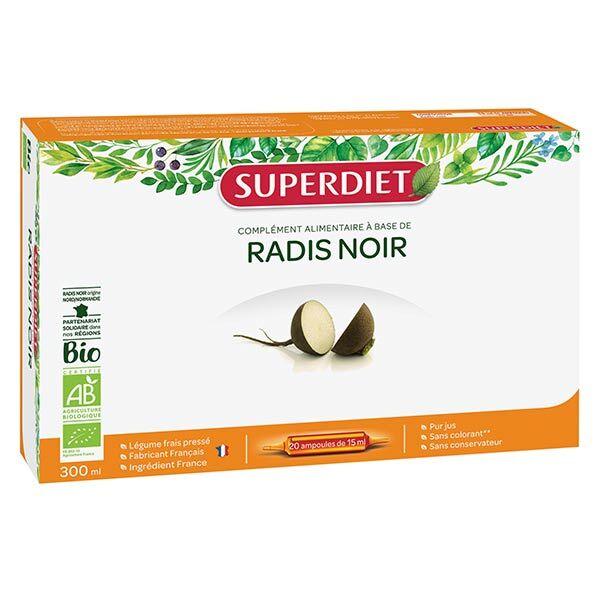 Superdiet Radis Noir Bio 20 ampoules