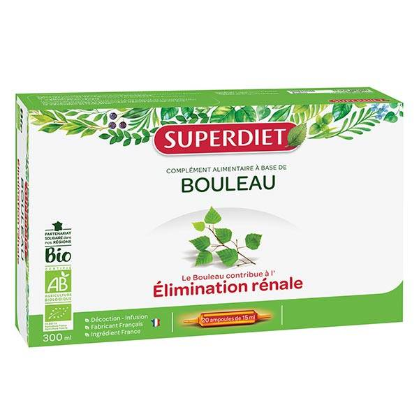 SuperDiet Super Diet Bouleau Bio 20 ampoules