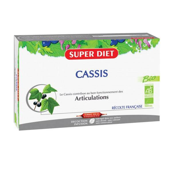 Super Diet Cassis Bio 20 ampoules de 15ml