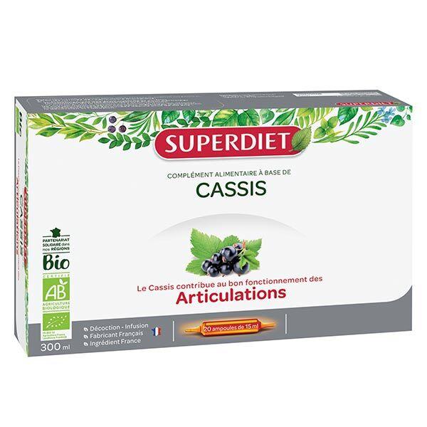Superdiet Cassis Bio 20 ampoules
