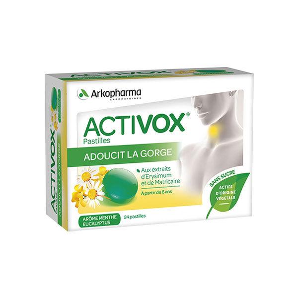 Activox Pastille Sans Sucre Arôme Menthe/Eucalyptus 24 pastilles