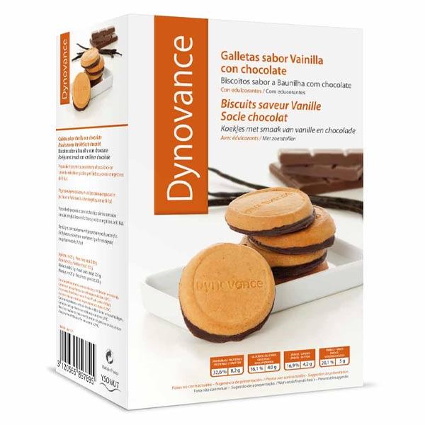 Inovance Dynovance Biscuit Vanille Socle Chocolat 8 unités